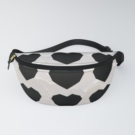 Black Hearts to Crumble Fanny Pack