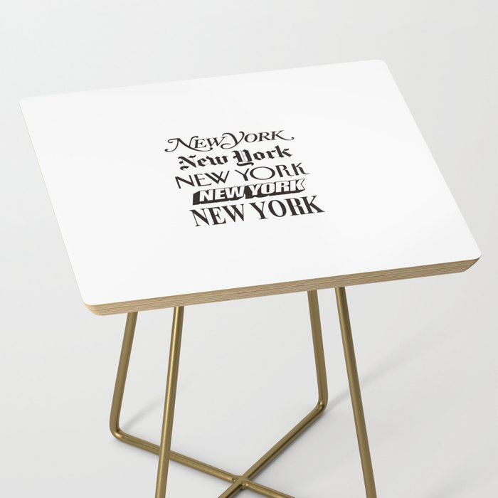 I Heart New York City Black and White New York Poster I Love NYC Design black-white home wall decor Side Table