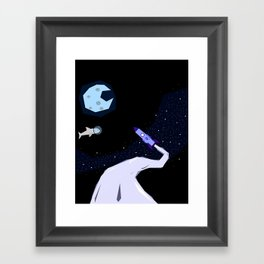 Off to space Framed Art Print