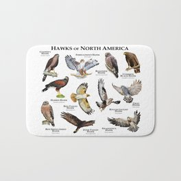 Hawks of North America Bath Mat
