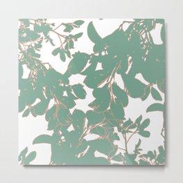GREEN LEAFY Metal Print