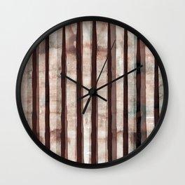 Birch Marsala Watercolor Wall Clock
