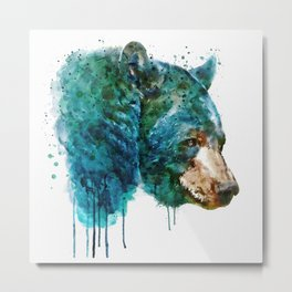 Bear Head Metal Print