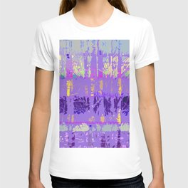 Abstract Forest Trees in Lavender and Lilac T-shirt