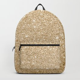 Modern abstract elegant chic gold glitter Backpack