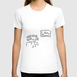 stock exchange stockbroker fund manager T-shirt
