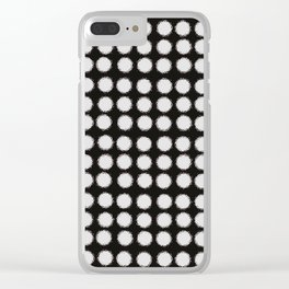 Milk Glass Polka Dots Black And White Clear iPhone Case