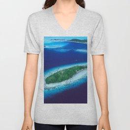 South Pacific Romantic, Remote Island In French Polynesia Unisex V-Neck