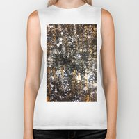 black and gold Biker Tanks featuring Black Gold by Tyler Resty