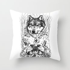 A Wolf in Sheep's Clothing Throw Pillow