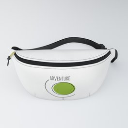 Adventure Earth Globe Fanny Pack