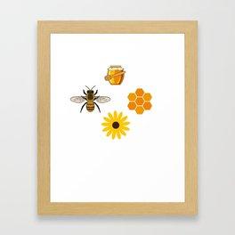 Beekeeper Honey Gift Idea Bee Design Framed Art Print