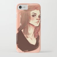 allison argent iPhone & iPod Cases featuring argent by shauna ok