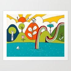 hiker's dream Art Print