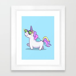 Fabulous Unicorn Framed Art Print