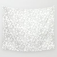 calligraphy Wall Tapestries featuring Calligraphy  by Johs