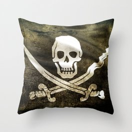 Pirate Skull in Cross Swords Throw Pillow