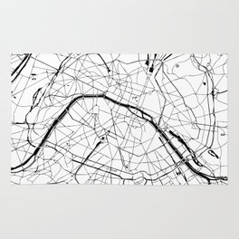 Paris Minimal Map Rug