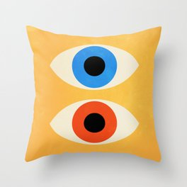 Eyes | Bauhaus III Throw Pillow