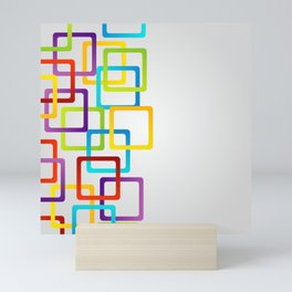 Rounded edge squares in multiple colors Mini Art Print
