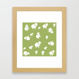 background with sheep Framed Art Print