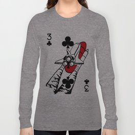 Curator Deck: The 3 of Clubs Long Sleeve T-shirt