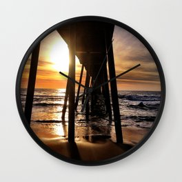 "Hermosa Beach ""Under the Pier"" Wall Clock"
