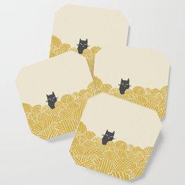 Cat and Yarn Coaster