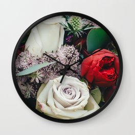 The Beauty of Flowers Wall Clock