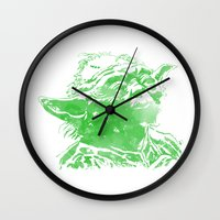 yoda Wall Clocks featuring Yoda by DanielBergerDesign