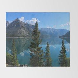Beautiful Lake Minnewanka Throw Blanket