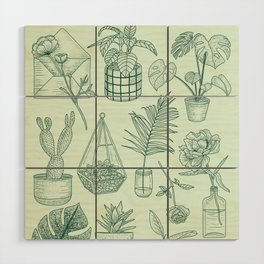 PLANTS LOVER Wood Wall Art