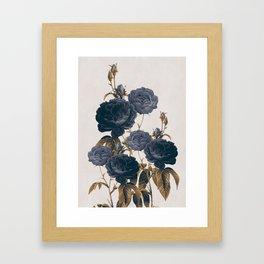blue flowers Framed Art Print