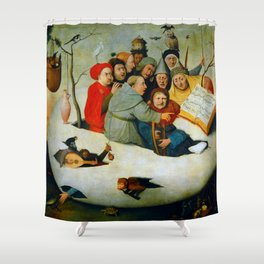 """Hieronymus Bosch """"The Concert in an Egg"""" Shower Curtain"""