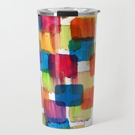 Colorful Bubblewrap POSTER Watercolor ART ABSTRACT Print by Robert R Splashy ART Travel Mug