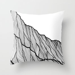 Rock lines Throw Pillow