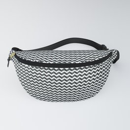 3D Zigzag Horizontal Line PPG Paints 2019 Color of the Year Night Watch Fanny Pack