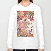 boston Long Sleeve T-shirts featuring Boston by MapMapMaps.Watercolors