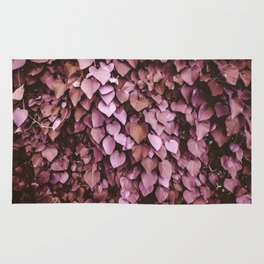 Heart-shaped Leaf Wall Valentine's Day Tropical Spring Blush Pink Pattern Rug