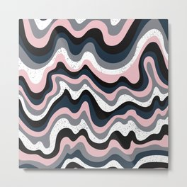 Dream Pink Abstract Metal Print