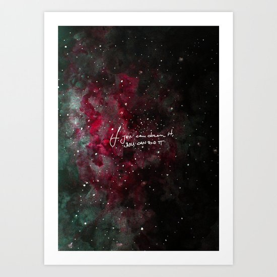 You can do it-red Art Print