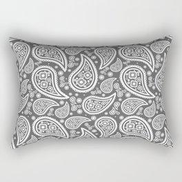 Paisley (White & Grey Pattern) Rectangular Pillow