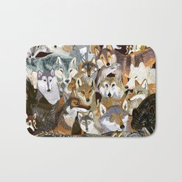 Wolves o´clock (Time to Wolf) Bath Mat