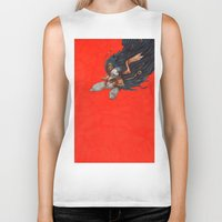 birdman Biker Tanks featuring Birdman by Anna Landin