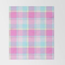 Summer Plaid Throw Blanket