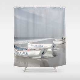 Beach Patrol Brigantine Shower Curtain