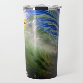 Backlit Kelp & Glassy Shorebreak Barrel Travel Mug