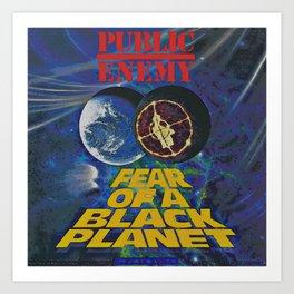 Public Enemy  / Fear of a black planet album cover Art Print
