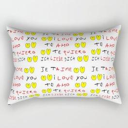 Je t'aime 7-i love you,je t'aime,te amo,te quiero,ich liebe dich,love,romantism,romantic,heart,cute Rectangular Pillow