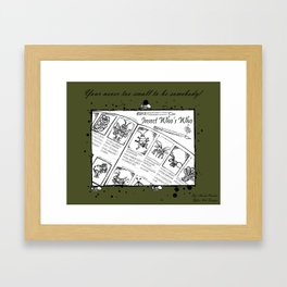"Be Who you want to ""Bee"" Framed Art Print"